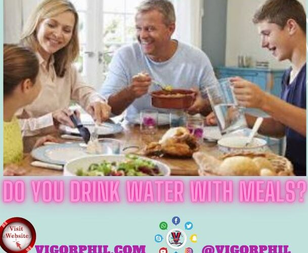 Drink water with meal?